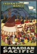Vintage Travel Poster Banff Days Indian by Canadian Pacific